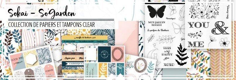 Papiers de scrapbooking et tampons clear